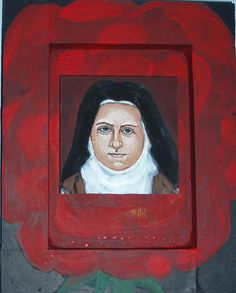 """St. Therese of Lisieux Mixed media on board 8"""" x 10"""""""