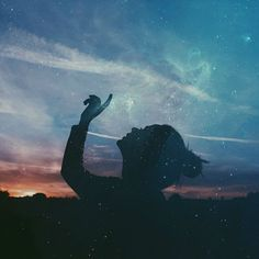 Awesome Silhouette Photography by Emilya Costa Posts Tumblr, Silhouette Photography, Photo D Art, Double Exposure, The Dreamers, Northern Lights, Stars, World, Drawings