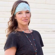 Beautiful, comfortable handmade lace headband for under $10.00