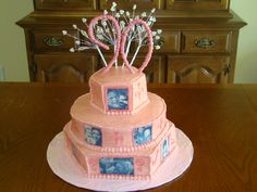 90th Birthday Cake - White Cake with Buttercream and edible images - Granny's Birthday