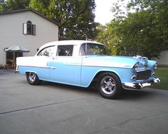1955 Chevy Belair...one of my favorite cars but I prefer a exotic paint job