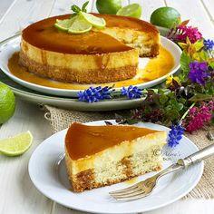 Cheesecake version of traditional Filipino dessert Leche Flan (aka Milk flan, or flan de leche) Yema Cake, Flan Cake, Custard Cake, No Bake Desserts, Easy Desserts, Delicious Desserts, Yummy Food, Baking Recipes, Cake Recipes