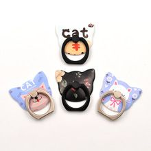 cat style 360 Degree Finger Ring Mobile Phone Smartphone Pop Stand Holder Universal all Smart Phone Holders & Stands(China)