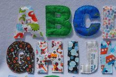 Boy Fabric Plush Alphabet Capital Letters Learning Set