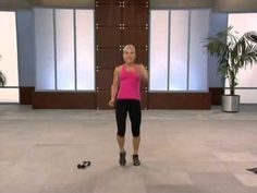 10 Pound Slim Down. Exercise TV Workout. I did this workout and not only was I sweating but legs were burning. I used 7.5 lb dumbbells.