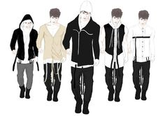 Mixed media fashion illustrations for my third year project.  styling, menswear, art, mens fashion, trends 2013