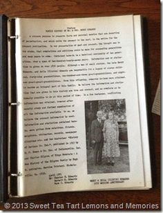 Family history, the little black book.