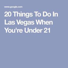Date ideas in las vegas under 21