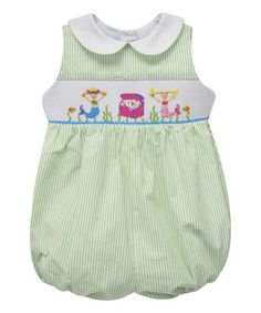 Loving this Green Mermaid Smocked Bubble Romper - Infant on #zulily! #zulilyfinds