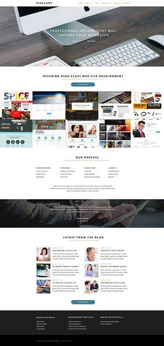 Design Needs Time - Get Template Espresso! Most Popular website inspirations at your coffee break: browse for more most Popular and WordPress templates! // Regular price: $72  // Sources available:  .PSD, .PHP, This theme is widgetized  // #WebDesign #Wor