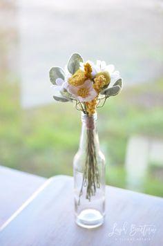 Wildflower Bouquet / Handmade Felt Flowers by LeaphBoutique