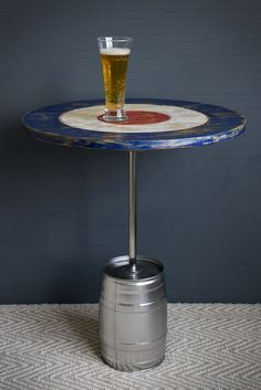 BULLSEYE AND BEER Coffee Table Perfect For A Man Cave Made From