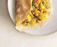 Rava Dosas with Potato Chickpea Masala Recipe  | Epicurious.com