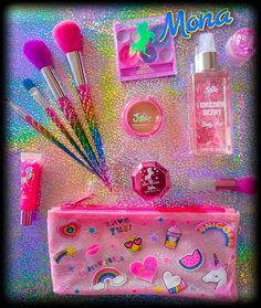 My Daughter's Unicorn Beauty Products 🌈 All from her favorite store Justice . Makeup Kit For Kids, Kids Makeup, Cute Makeup, Little Girl Toys, Baby Girl Toys, Toys For Girls, Make Up Kits, Justice Makeup, Princess Toys