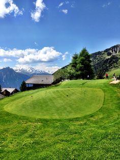 Aletsch Arena - 7.6.15 Golfclub Riederalp - Golfsaison auf dem höchstgelegensten 9 Loch Golfplatz Europas eröffnet! #aletscharena #riederalp #golf #wallis #schweiz #alpen Bergen, Golf Courses, Europe, Alps, Mountains
