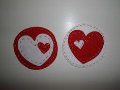Heart felt pads / Posavasos corazón de fieltro