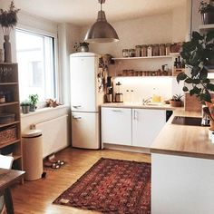 Kitchen Living Room This is it. I'd rather have a big kitchen than a big living room. Big Kitchen, Living Room Kitchen, Kitchen Decor, Big Living Rooms, Home And Living, Home Design, Interior Design, Ikea Interior, Design Ideas