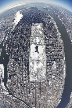 Winter over Manhattan and a Snowy centralparknyc @taylorscottmason x nyonair www.nyonair.com