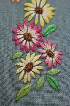 Grand Sewing Embroidery Designs At Home Ideas. Beauteous Finished Sewing Embroidery Designs At Home Ideas. Hand Embroidery Tutorial, Hand Work Embroidery, Embroidery Flowers Pattern, Simple Embroidery, Japanese Embroidery, Hand Embroidery Designs, Cushion Embroidery, Crewel Embroidery, Cross Stitch Embroidery
