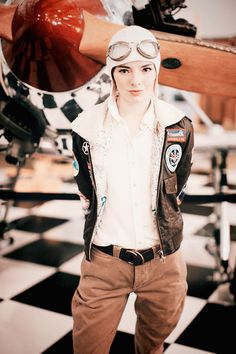 Get dressed up as Amelia Earhart for your Halloween bash.