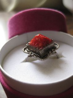 Vintage Silver ring red coral Berber ring by AntiquesNejadStyle, $40.00