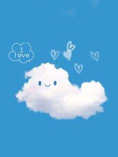 Black Kitty gif by Cute_Stuff Cloud Wallpaper, Disney Wallpaper, Iphone Wallpaper, Gifs, Emoji, Himmelblau, Blue Aesthetic, Cute Illustration, Cute Love