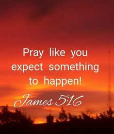 Bible Verse Of The Day: pray like you expect something to happen. Biblical Quotes, Scripture Quotes, Religious Quotes, Faith Quotes, Spiritual Quotes, Healing Quotes, Heart Quotes, Prayer Scriptures, Faith Prayer