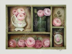 Forever Roses by Jeanne Downing. Who wouldn't love to own this? Oil on masonite (11in x 14in) and for sale $400