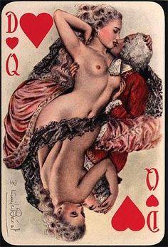 Cartes à jouer erotiques et retro