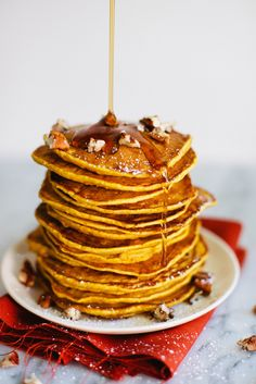 Pumpkin Pancakes with Maple Cinnamon Whipped Cream