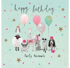 Birthday Quotes : Happy birthday party animals