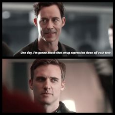 """One day, I'm gonna knock that smug expression clean off your face"" - Wells and Zoom/Hunter #TheFlash"