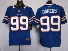 Men's Nike Buffalo Bills Marcell Dareus Elite Team Color Jersey  $20.99