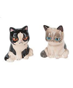 Look what I found on #zulily! Grumpy Cat Salt & Pepper Shakers by Grumpy Cat #zulilyfinds