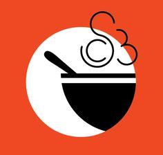 Soup Club: Logo & Membership Card Design on Behance Food Logo Design, Menu Design, Identity Design, Logo Doce, Logo Online Shop, Catering Logo, Restaurant Branding, Arte Pop, Graphic Design Posters