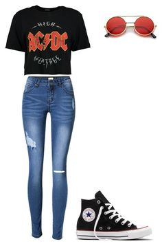 """""""Hispster"""" by jennyestrella on Polyvore featuring Boohoo, ZeroUV and Converse"""