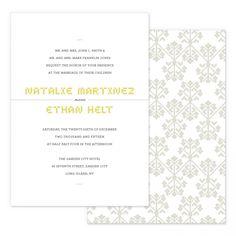 Cross stitch wedding invitations