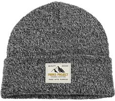 Parks Project Quality Goods Monochrome Beanie - Marble Grey One Size Men's Beanies, White Beanies, National Park Gifts, Black Beanie, Soft Classic, Knit Beanie, Caps Hats, Columbia, Monochrome