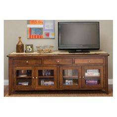 Conrad Grebel Springfield TV Stand Finish: Maple - Baker's Chocolate