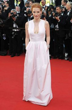 """Jessica Chastain attends the Opening Ceremony and """"Moonrise Kingdom"""" premiere during the 65th Cannes Festival at Palais des Festivals on May 16, 2012 in Cannes, France."""
