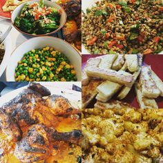 Meal prep for the week done!!! The roastmaster @v.a.n.a.n is back! Indian spiced roast chicken and cauliflower; stirfry broccoli; green peas and juicy corn; harissa puy-style lentils & semi dried tomato salad served with halloumi!!! My fave!! #highprotein #fitfood #instafood #homemade #mealprep #doyoumealprep #eatclean #eatlight #salad #soyum #bestfood #freshproduce #runtober #goals #sundayroast #domesticgoddess #doyouevenmealprep #macromealprep #mealprepsunday #mealprepsociety by…