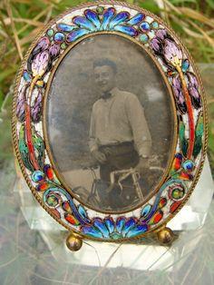 Art Nouveau Micromosaic frame with rich colourful decoration