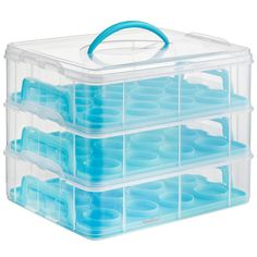 VonShef 3 Tier Cupcake Holder and Carrier Container Color: