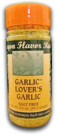 OREGON FLAVOR RACK, Garlic Lover's Garlic. Good on everything. Eugene, Oregon (Consumables & USA / O)