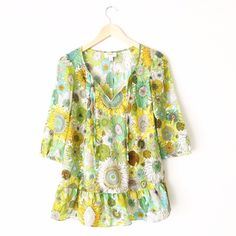 Liberty of London for Target Floral Ruffle Top liberty of London for target. Floral ruffle peplum top. Excellent condition. With no rips it stains. First picture filtered. Size XS. Gorgeous colors and perfect for summer. 0518160280• Liberty of London for Target Tops Blouses
