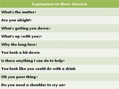 Forum | Learn English | Common Expressions to Show Concern | Fluent Land