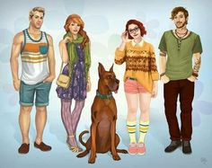 Modern day Scooby Doo crew