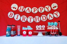 Mommy will play: Little Red Wagon Birthday