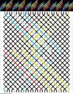 28 strings, 32 rows, 7 colors