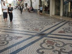Portuguese pavement. Lisbon.